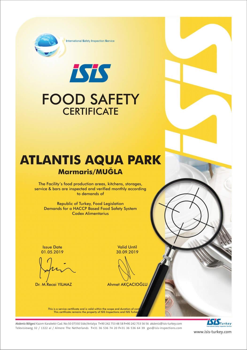 Gıda Güvenliği ve Hijyeni Sertifikası